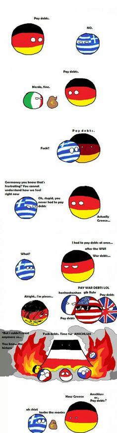 Anschluss or debts?