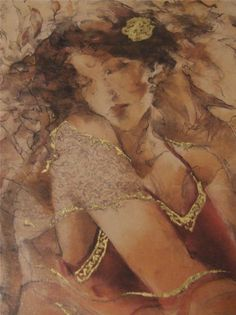 """""""Rosa"""" by Gary Benfield serigraph signed & Certified Goldleaf enhanchment - I'll win it one day"""