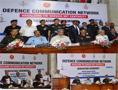 Honble Raksha Mantri Shri Manohar Parrikar dedicated Defence Communication Network(DCN) to the Nation http://today.pic.twitter.com/HEt67sQc87 #IndianArmy #Army