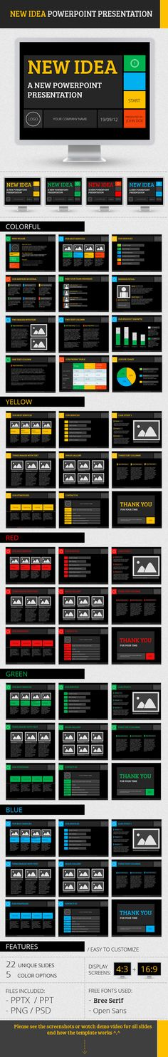 New Idea PowerPoint Presentation — Powerpoint PPT #stylish #colorful • Available here → https://graphicriver.net/item/new-idea-powerpoint-presentation/2611781?ref=pxcr