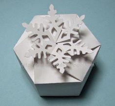 little twist top boxes template   Twist Top Snowflake Box