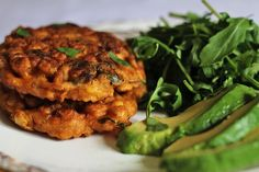 Your new favourite brunch recipe is right here, sweetcorn and chickpeas fritters are divine. Serve them with avocado, egg, rocket, and a dash of sriracha.