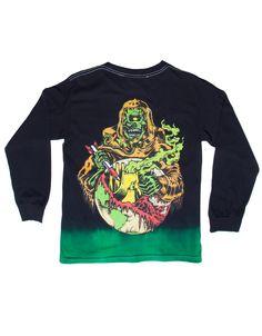 Lamour Supreme: Quarantine L/S Shirt (Black Dip Dye)