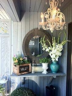 See what I'm talking about!!! It's gorgeous! I'm trying to figure how I can do my porch this way.. Lily Francoise always post amazing pics on fb