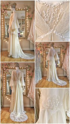 Cream silk georgette long sleeved Renaissance inspired wedding gown by Joanne Fleming Design dresses silk chiffon Cream Silk Chiffon Wedding Dress Renaissance Wedding Dresses, Cream Wedding Dresses, Modest Wedding Dresses, Wedding Gowns, Lace Wedding, Pretty Dresses, Beautiful Dresses, Fairytale Gown, Fairy Dress