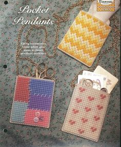 Pocket Pendants Plastic Canvas Pattern