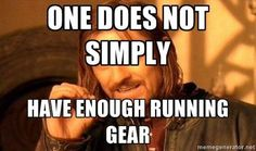 Or cycling gear or swim toys, or headphones, or compression socks, or gels, or water bottles....