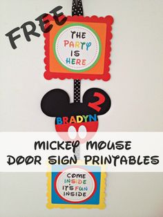 How to make a Mickey Mouse Inspired Party Door Sign with FREE Printables Mickey Mouse Clubhouse Party Door Sign DIY The post How to make a Mickey Mouse Inspired Party Door Sign with FREE Printables appeared first on Paris Disneyland Pictures. Mickey Mouse Birthday Decorations, Mickey Mouse Clubhouse Birthday Party, Mickey Mouse 1st Birthday, Mickey Mouse Parties, Mickey Party, 1st Boy Birthday, 1st Birthday Parties, Birthday Ideas, Birthday Stuff