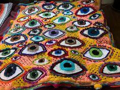 Eyeball Blanket for a baby! : crochet