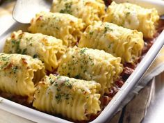 Chicken and Cheese Lasagna Roll-Ups #Dinner