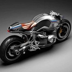 BMW R NineT Aurora Concept Motorcycle: The BMW NineT is popular for its countless customization possibilities. But designer Mehmet Doruk Erdem s take with the Aurora Concept is something else. Concept Motorcycles, Triumph Motorcycles, Custom Motorcycles, Cars And Motorcycles, Bmw Cafe Racer, Cafe Racers, Bike Bmw, Nine T, Bmw Boxer