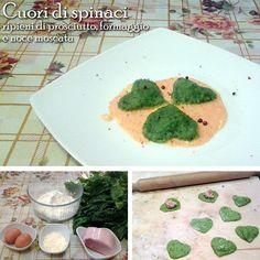 """Oggi con i buoni prodotti dell'azienda Agricola Lama Chiara preparo ...""""cuori di spinaci ripieni di prosciutto, formaggio e noce moscata"""""""