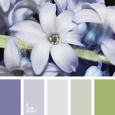 Прекрасные оттенки фиолетового и салатового