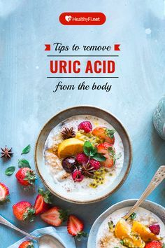 Tips to remove uric acid from the body High levels of uric acid in the blood causes a condition call Uric Acid Causes, Uric Acid Symptoms, Uric Acid Gout, Gout Remedies, Natural Remedies, Herbal Remedies, Health Remedies, Low Uric Acid Diet, Uric Acid Treatment
