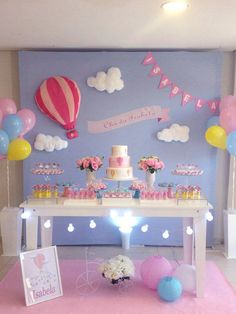 Balloon Birthday Themes, Candy Theme Birthday Party, Fairy Birthday Party, 1st Birthday Parties, Rainbow Party Decorations, Girl Baby Shower Decorations, Birthday Party Decorations, Decoration Party, Baby Shower Balloons