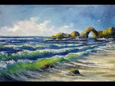 Рисуем вместе морской пейзаж маслом. Александр Григорьев - YouTube