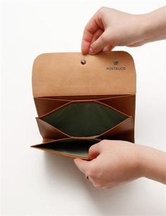 Postalco Postcard Leather Wallet - Tan: