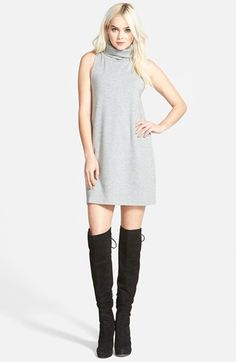 Leith A-Line Turtleneck Dress available at #Nordstrom