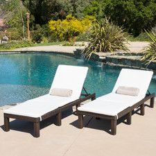 Backyard Creations Timberland Chaise Lounge Patio Chair Porch