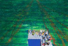 Wartezone, 2010, 160 x 110 cm, Acryl auf Nessel