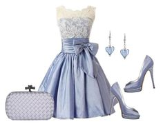 """""""Periwinkle Dreams"""" by sjlew ❤ liked on Polyvore featuring Casadei"""