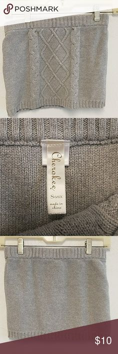 Cherokee Gray Sweater Skirt Cherokee Gray Sweater Skirt Cherokee Bottoms Skirts