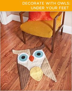Bring owls in your house, even under your feet! More examples @BrightNest blog.