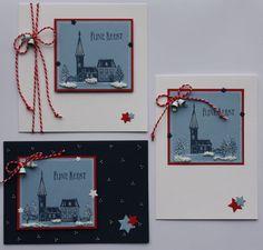 Tijdens KreaDoe maakte Marjolein tijdens haar demonstratie allerlei kleine kaartjes met gestempelde huisjes erop. Hiermee heeft ze nu kaarten gemaakt. In dit blogbericht zie je er een heleboel. Steeds een beetje anders.