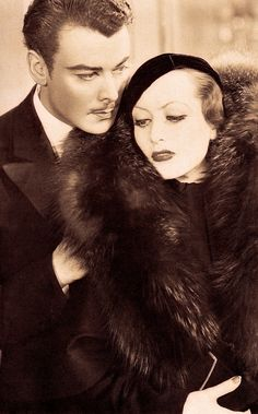 JOAN CRAWFORD & homme fatal villain NILS ASTHER in LETTY LYNTON (1932) From The Films of Joan Crawford by Lawrence J. Quirk (1970) (please follow minkshmink on pinterest) #joancrawford #lettylynton #nilsasther #thirties Hollywood Divas, Hollywood Cinema, Old Hollywood Movies, Hollywood Icons, Old Hollywood Glamour, Hollywood Celebrities, Vintage Hollywood, Hollywood Stars, Classic Hollywood