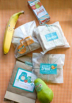 Free printable kids lunch box labels which you can personlaise thanks to @lia griffith