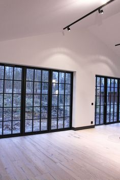 Garage Bedroom Conversion, Bifold French Doors, Beddinge, Danish House, Gothic House, Small House Plans, Beautiful Interiors, Home Renovation, Home Deco