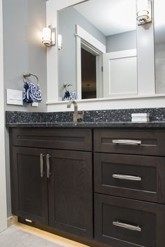 Bathroom vanity hardware bathroom vanity hardware brushed nickel ideas bathroom cabinet hardware or 2 bathroom cabinet Kitchen Cabinet Hardware, Modern Kitchen Cabinets, Wood Cabinets, Floating Shelf Hardware, Cabinet Door Hardware, Modern Floating Shelves, Small Bathroom Colors, Bathroom Renos, Bathroom Ideas