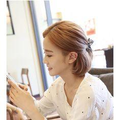 Miss21 Korea Bow Hair Tie ❤ liked on Polyvore featuring accessories, hair accessories, bow hair ties, bow hair accessories, elastic hair ties and ponytail hair ties