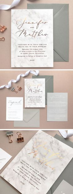 Grey marble and copper foil wedding invitations and stationery by Project Pretty Invitations de Mariage Marble copper foil printed Wedding Invitations Shine Wedding Invitations, Watercolor Wedding Invitations, Wedding Invitation Design, Wedding Stationary, Reception Invitations, Invitation Floral, Wedding Cards, Diy Wedding, Wedding Inspiration