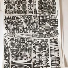 I have finally managed to make a start on the first assignment. Work commitments have kept me from it all week and it is a… Surface Pattern Design, Pattern Art, Textures Patterns, Print Patterns, Zentangle Patterns, Zentangles, Teen Art, Elements Of Art, Pattern Illustration