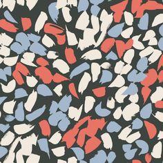 """Tissu """"Blossom Coral"""" x10cm"""