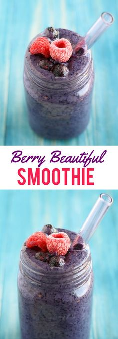 Boost your beauty routine with the antioxidant filled berry smoothie! #smoothie