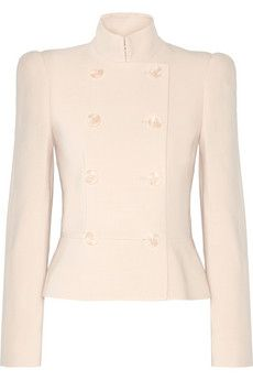 Alexander McQueen Double-breasted stretch-twill jacket | NET-A-PORTER
