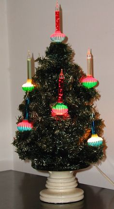 1000+ images about Vintage Christmas Table Top Lighted ...