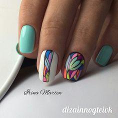 strong pastel nails enriched with beautiful decoration 44 Fabulous Nails, Perfect Nails, Hot Nails, Hair And Nails, Spring Nails, Summer Nails, Nagellack Trends, Pastel Nails, Colorful Nails