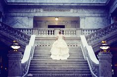"""This photo was taken by a talented photographer friend of mine.  She took the story of Cinderella (one of my very favorite fairy tales) and created photos of a couple and their own """"happily ever after""""."""
