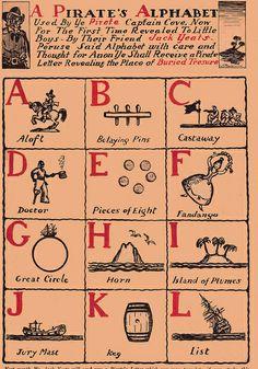 Pirate alphabet A-L