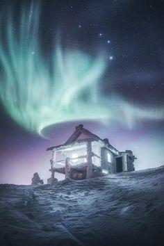 Magical Aurora Borealis (Northern Lights) in Levi, Lapland, Finland, December 2016 Beautiful Sky, Beautiful Landscapes, Beautiful World, Aurora Borealis, Nature Pictures, Beautiful Pictures, Landscape Pictures, Landscape Photography, Nature Photography