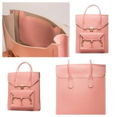Pink medium size tote bag practical for daily use in side the Pelham bag is spacious with a medium size pocket with the Tomas Brilliance logo embossed at the centre of the pocket  #bag #handbag #tote #pink