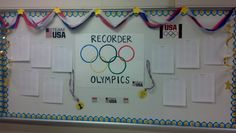 Elementary Music Methods: Real Life Edition: Recorder Olympics Wall