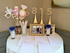 Bubbly Bar, Blush, Pink & Gold Bridal/Wedding Shower Party Ideas | Photo 1 of 39 | Catch My Party