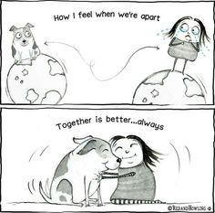 Together is Better – Red and Howling Love My Dog, Puppy Love, Funny Animals, Cute Animals, Cartoon Dog, Dog Cartoons, Dog Lady, Dog Rules, Animal Quotes