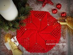 @ Lacy Crochet: Christmas Star Doily - Free Pattern