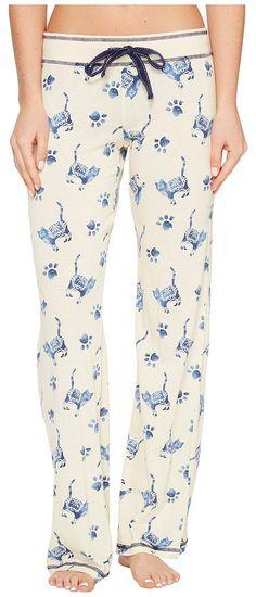 P.J. Salvage Blue Batik Cat Lounge Pants (Sand) Women's Casual Pants - P.J. Salvage, Blue Batik Cat Lounge Pants, RCBBP5-105, Apparel Bottom Casual Pants, Casual Pants, Bottom, Apparel, Clothes Clothing, Gift, - Street Fashion And Style Ideas