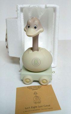 Enesco Train Ostrich Figurine 8th Birthday Precious Momens Eighth VTG 109460 NEW